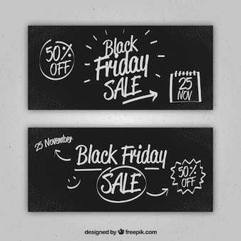 Great black friday banners with discounts