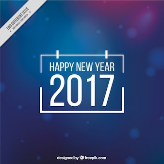 Great blue background for new year with bokeh effect