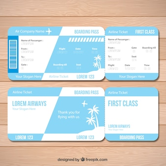 Great boarding pass with palm trees