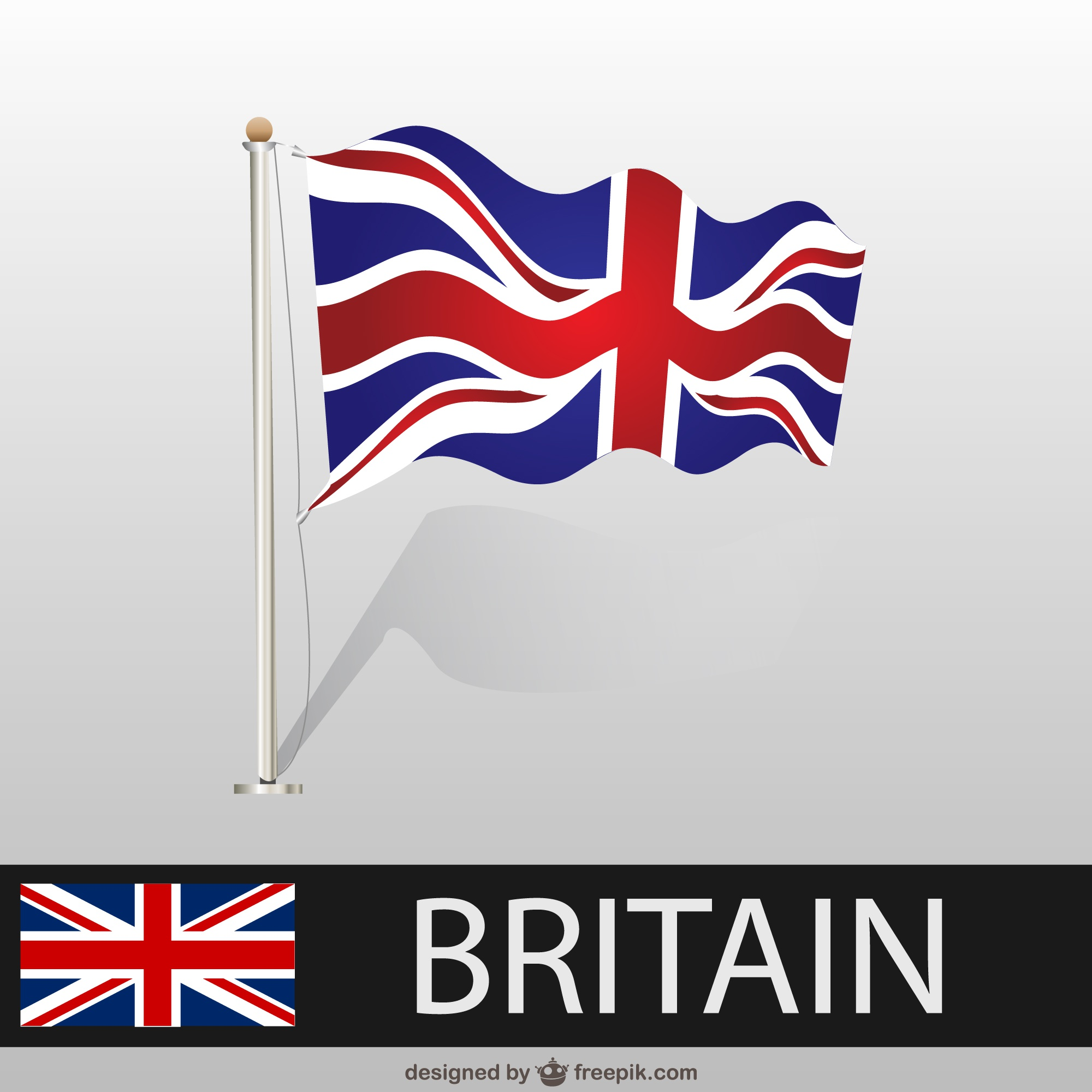 Great Britainwaving flag