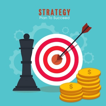 Great business background with chess piece and dartboard