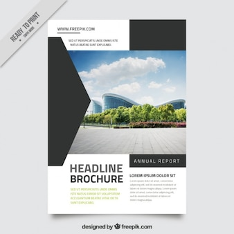 Great business brochure with black geometric shapes