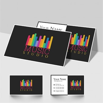 Great business card for music studio