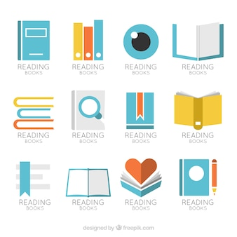 Great collection of book logos