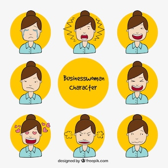 Great collection of businesswoman character