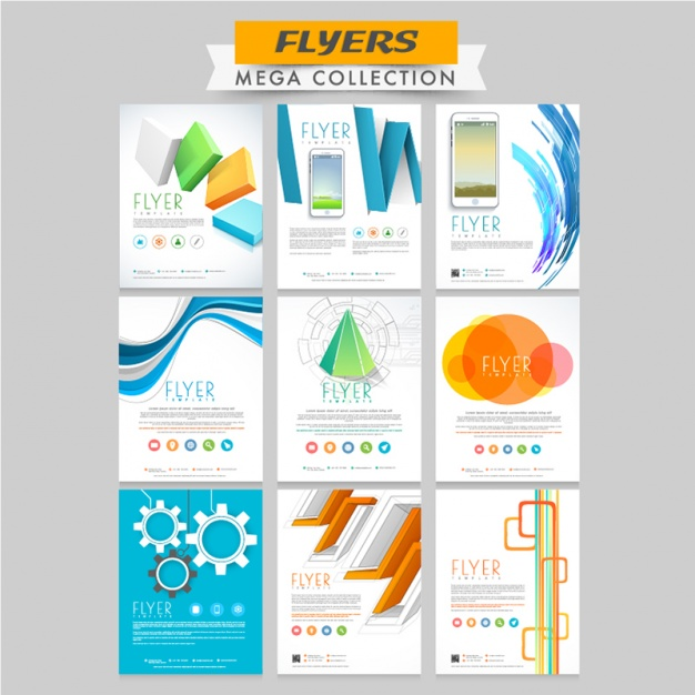 Great collection of colored flyers