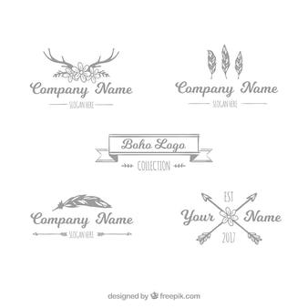 4自由奔放に生きるロゴの素晴らしいコレクション
