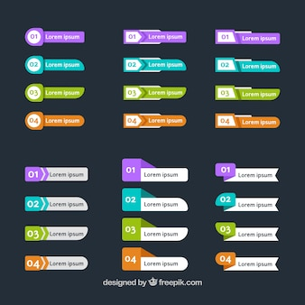 Great collection of infographic banners with variety of designs