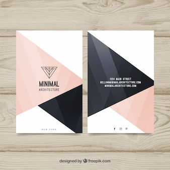 Great corporate card with pink and black shapes