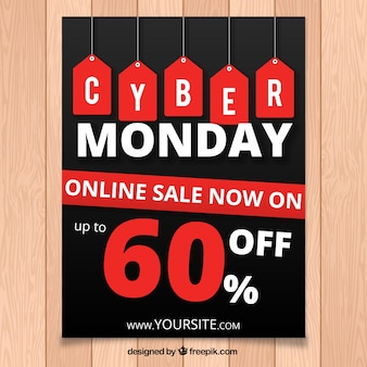 Great cyber monday booklet with red labels