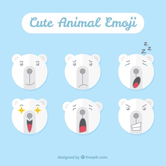 Great emoticons of polar bear
