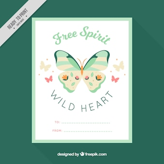 Great ethnic card with beautiful butterfly