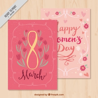 Great floral card for women's day