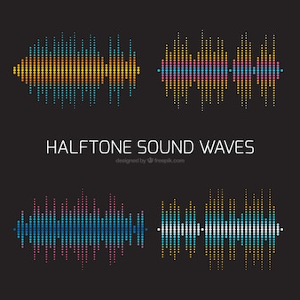 Great halftone sound waves with different colors