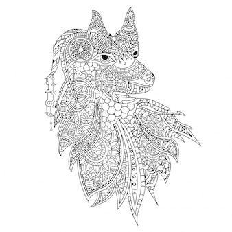 Great illustration of ornamental animal
