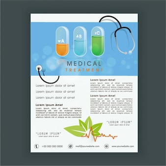 Great leaflet template with medical treatment