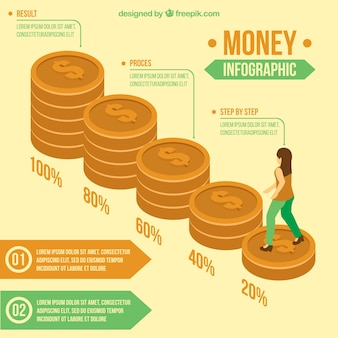 Great money infographic in isometric design