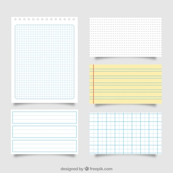 Great pack of different paper sheets