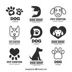Great pack of flat logos with dogs and tracks