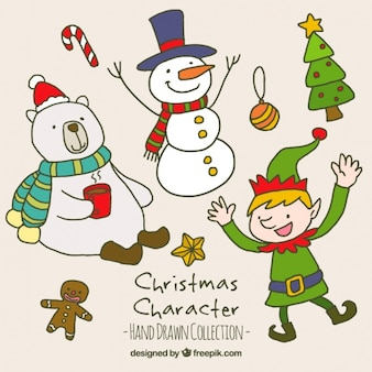 Great pack of smiling christmas characters