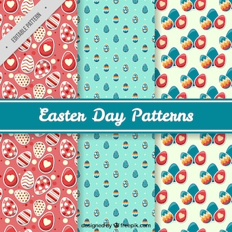 Great pack of three easter patterns with decorative eggs