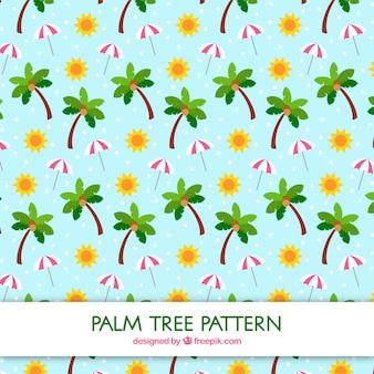 Great palm tree pattern in flat design