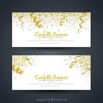 Great party banners with confetti