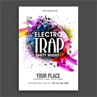Great party poster with abstract shapes