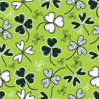 Great pattern of clovers with different designs for st patrick's day