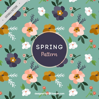 Great pattern of decorative flowers for spring