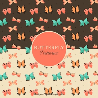 Great patterns with beautiful butterflies