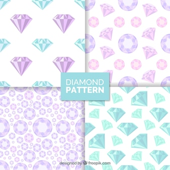 Great patterns with blue and pink precious gems