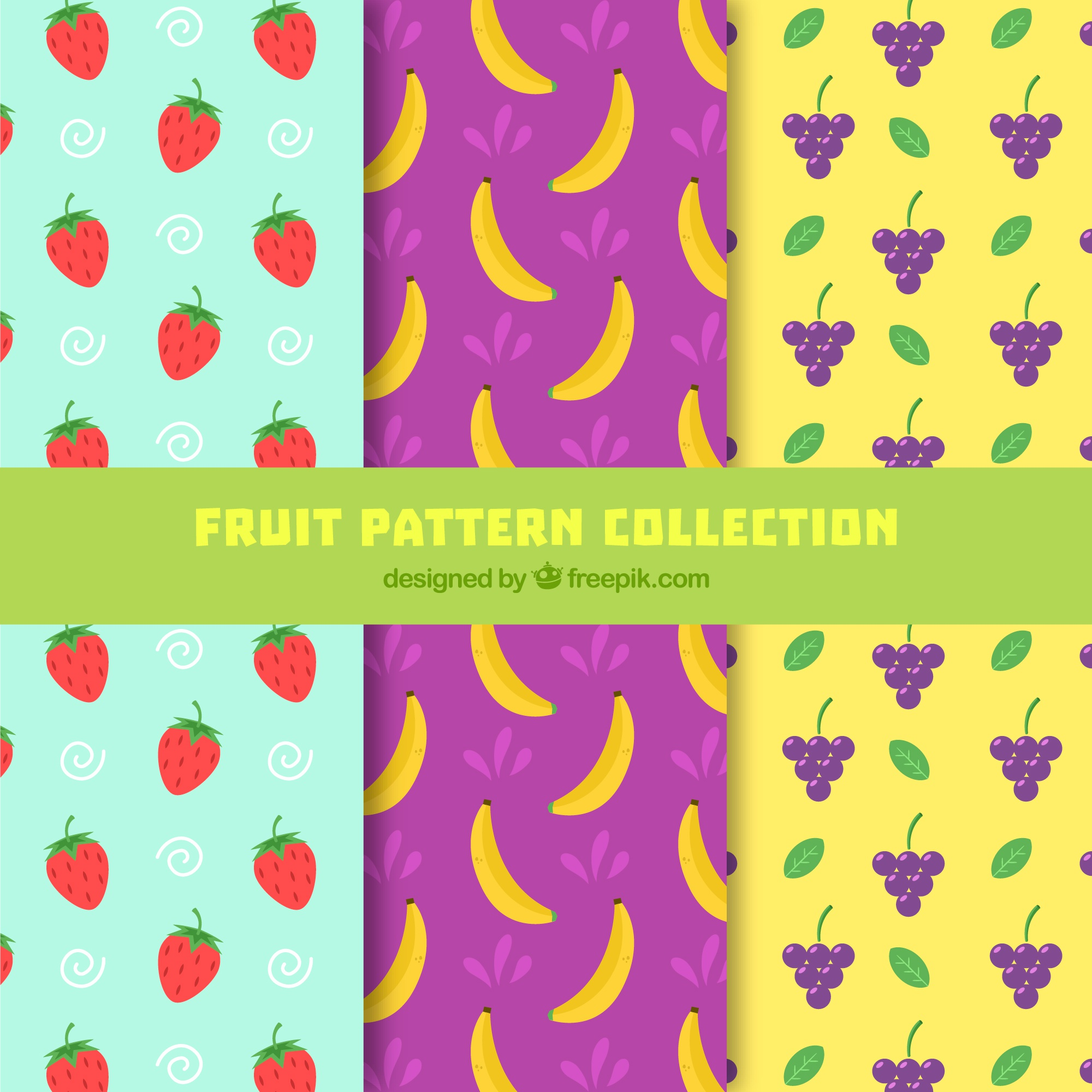 Great patterns with flat fruits