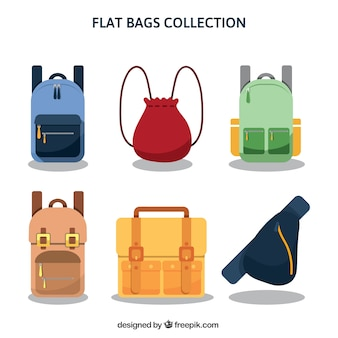 Great selection of backpacks in flat style