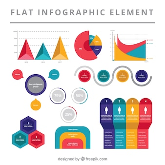 Great set of flat infographic elements