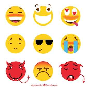 Great set of funny emoticons