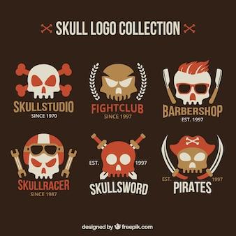 Great skull logos in flat design