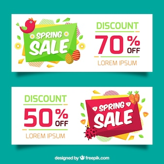 Great spring banners with special discounts