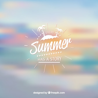 偉大な夏の背景、ぼかし効果