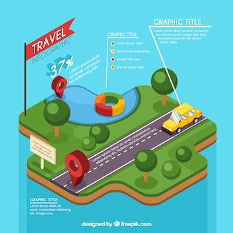 Great template of isometric travel infographic