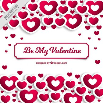 Great valentine's day background with white and pink hearts