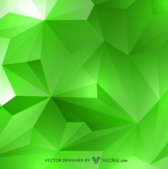 green 3d geometric background