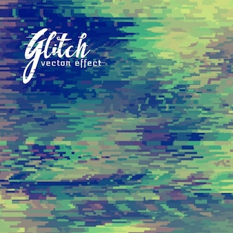 Green abstract background, glitch effect