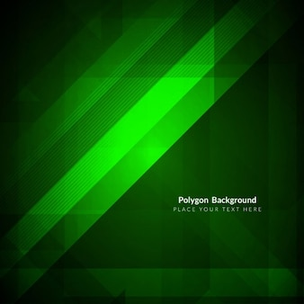 Green abstract background with geometric shapes