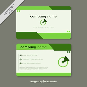 Green abstract corporate card