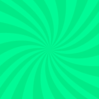 Green abstract spiral background - vector design from spinning rays