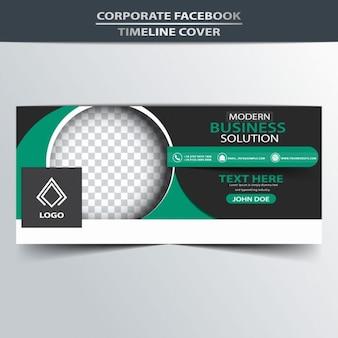 Green and black facebook timeline cover