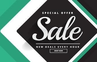 Green and black sale voucher design