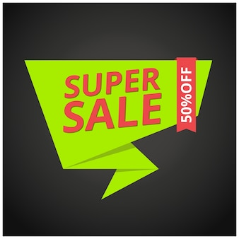 Green and red sale banner