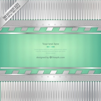 Green and silver metallic background